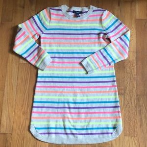 GAP NEON STRIPED SWEATR DRESS M 8